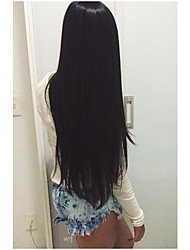 2016 Fashion 8-24Inch 100% Brazilian Human Hair Wig Natural Straight Natural Color Lace Front Wig
