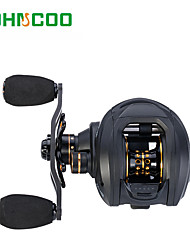 Baitcast Reels Gear Ratio 6.31 14 Ball Bearings Right-handle/Left-handle Black Sea Fishing Reel