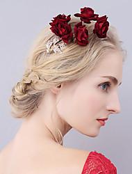 Mulheres Liga Veludo Capacete-Casamento Ocasião Especial Flores Prendedor de Cabelo Clip para o Cabelo 1 Peça