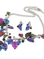Jewelry 1 Necklace 1 Pair of Earrings Wedding Party Daily Casual 1set Women Pool Dark Navy Multi Color Wedding Gifts