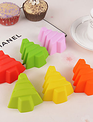 10Pcs Christmas Tree Silicone Cake Cup Silicone Cookie Mold Baking DIY Appliance Mould