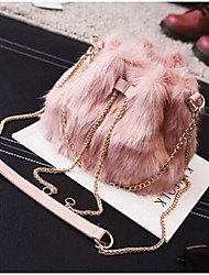 Women Shoulder Bag Other Leather Type Casual Black Gray Ruby Blushing Pink