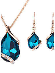 Schmuck 1 Paar Ohrringe Halsketten Hochzeit Party Krystall Aleación 1 Set Damen Schwarz Weiß Rot Blau Hochzeitsgeschenke
