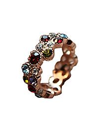 Anéis Diário / Casual Jóias Liga / Strass Feminino Anéis Statement 1pç,8 Cores Sortidas
