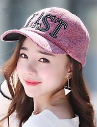 Women 'S Winter Cap Hair Plush Letters Take Baseball Cap Women' S Fashion Cap