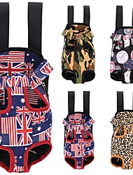 Dog Carrier & Travel Backpack Front Backpack Pet Carrier Portable Breathable Red Blue Brown Navy Fabric