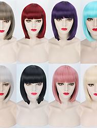 barato reto de seda cor 8 availabe peruca curta beleza penteado estilo harajuku cosplay partido ou calor weairng diária resistente de alta