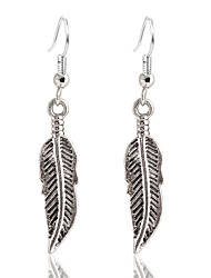 Women's Simple Vintage Leaf Dangle Earrings Fashion Jewelry