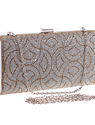 L.west Women's Diamond and Geometric Patterns Evening Bag