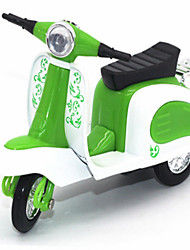 Educational Toy Model & Building Toy Motorcycle Metal Green For Boys / For Girls