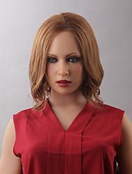 Короче говоря естественные волнистые женские человеческие волосы парик фронта шнурка