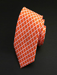 Cravate (Orange , Polyester) Couleur Pleine