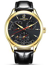 AngelaBOS Masculino Relógio de Moda relógio mecânico Automático - da corda automáticamente Calendário Impermeável Mostrador Grande Couro