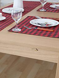 Carré Impression / Vichy Sets de table , Coton mélangé Matériel Hôtel Dining Table / Tableau Dceoration