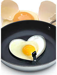 2 Psc DIY Mold For Egg / Cooking Utensils Metal Creative Kitchen Gadget