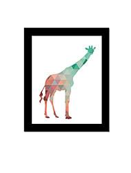 Unframed Canvas Print Abstract Modern / European Style Giraffe Pattern Wall Decor For Home Decoration