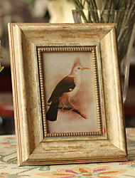 Vintage Theme Wood Photo Frames Chocolate