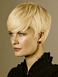 Short Natural Wave Human Hair Wig For Women