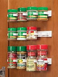 Galería multimedia n tienda de botella cocina especias estante del gabinete clips puerta especias conjunto 20-clip