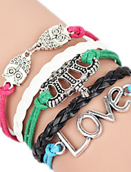 Bracelet Bangles Alloy Love Handmade Birthday / Daily Jewelry Gift Red / Blue / Green,1pc