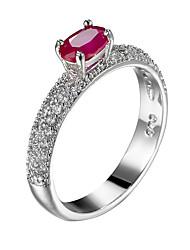 Brand Design Emerald Oval Zircon Women Jewelry Rings Platinum Plating Lady Luxury small rings Engagement Wedding Rings