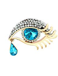 mulheres de liga leve jóias azuis broches 1ps
