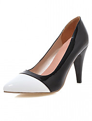 Women's Heels Spring Fall Leatherette Office & Career Casual Dress Stiletto Heel White Black Blushing Pink