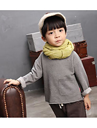 Boy Casual/Daily Solid TeeCotton Fall Long Sleeve Gender Occasion Pattern Kids ApparelFabric Season Sleeve Length Top Length  2.Gender Occasion Pa