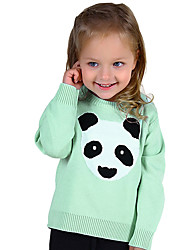 Unisex Going out Casual/Daily School Color Block Animal Print Embroidered Sweater & Cardigan,Cotton Winter Spring Long Sleeve Regular