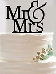 English letters acrylic wedding cake inserted fine decoration birthday cake inserted card