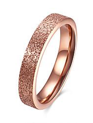 Anéis Diário Casual Jóias Aço Inoxidável Aço Titânio Feminino Anel 1peça,6 7 8 9 Ouro Rose