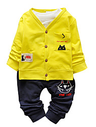 Boy's Cotton Fashion Spring/Fall Going out/Casual/Daily Cartoon Print Children Baby Sports Two-piece Clothing Set