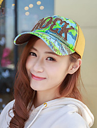 Fashion Lady Summer Hat Hat Letter ROCK Camouflage Cap Cap Sun Hat Baseball Cap