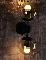 Ecolight™ Wall Sconces / Glass ball 2 Lights/Outdoor / Indoor Wall Lightsl Rustic/Lodge Metal
