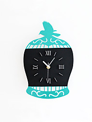 Modern Creative Cage Mute Wall Clock