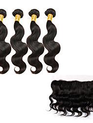 5 Stück Große Wellen Menschliches Haar Webarten Malaysisches Haar 100g or 50-75g 8-30inch Haarverlängerungen