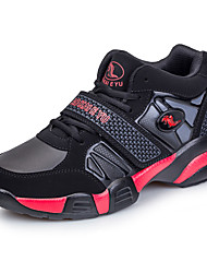 Men's Athletic Shoes Comfort PU Spring Fall Casual Basketball Comfort Magic Tape Flat Heel Black/Red Black/Blue 2in-2 3/4in