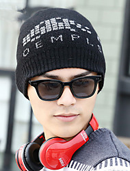 Fashion New Autumn And Winter Letters Wool Jacquard English Ski Cap Men Hat Warm Cap