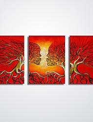 Abstrato Paisagens Abstratas Moderno Realismo,3 Painéis Tela Horizontal Impressão artística Decoração de Parede For Decoração para casa