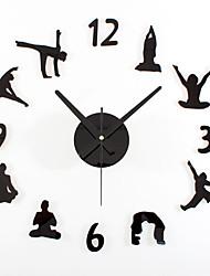 Moderno/Contemporáneo Retro Deportes Vacaciones Inspirador Familia Amigos Dibujos Animados Reloj de pared,Redondo Novedad Acrílico Metal