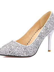 Women's Heels Spring Summer Fall Other Glitter Wedding Office & Career Party & Evening Stiletto Heel Sequin Black Red Silver Gold