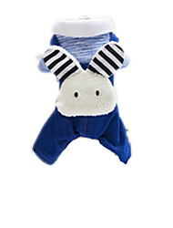 Dog Coat Dog Clothes Cute Cartoon Blue