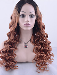 Grade 9A Peruvian Virgin Hair Lace Front Wig Loose Wave Hair Two Tone Ombre Black/Blonde Color Human Virgin Hair For Fashion Woman