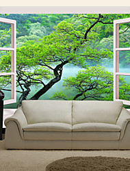 JAMMORY Art DecoWallpaper For Home Wall Covering Canvas Adhesive required Mural Outside The Window XL XXL XXXL