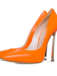 Women's Heels Spring Summer Fall Leatherette Office & Career Casual Party & Evening Dress Stiletto Heel Orange Yellow Rose Pink Red Nude