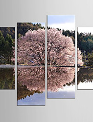 Canvas Set Abstract Landscape Modern Pastoral,Four Panels Canvas Any Shape Print Wall Decor For Home Decoration