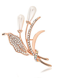 Women's Fashion Alloy/Rhinestone/Pearl Brooches Pin Party/Daily/Casual Luxury Jewelry 1pc