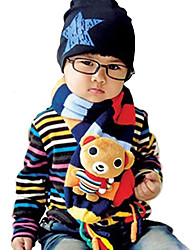 Unisex Knitting Winter Going out/Casual/Daily Boy And Girl Warmth Rainbow Stripe Cartoon Rabbit Bear Neckerchief Children Scarf