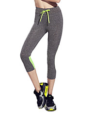 Running Sports Tights Women's Breathable Quick Dry Reduces Chafing Ultra Light Fabric Nylon TactelYoga Pilates Exercise & Fitness