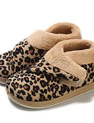 Para NiñaConfort-Zuecos y pantuflas-Exterior Informal-Vellón-Rosa Leopardo